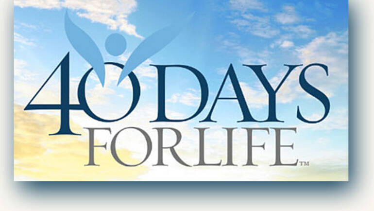 40 Days for Life Kickoff Rally<br>Fall 2020