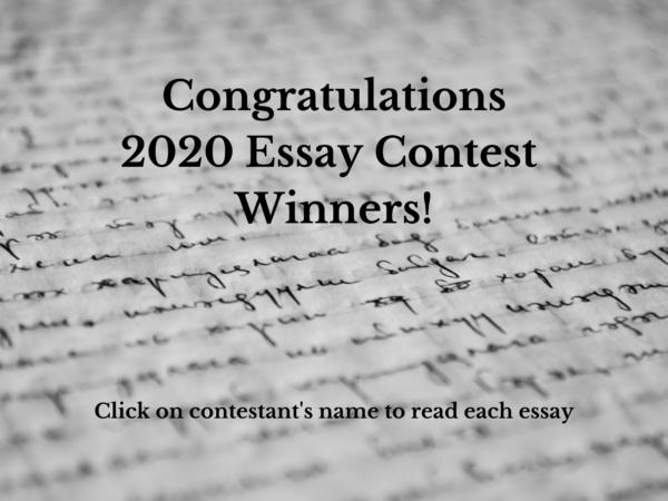 2020 Essay Contest Winners 2